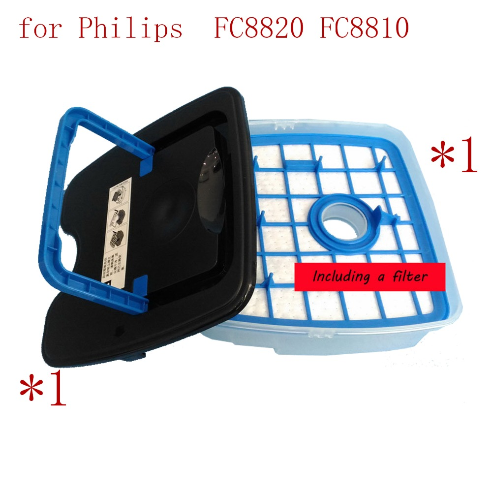 1 pcs filter + 1 pcs dust box for Philips Robot FC8820 FC8810 robot Vacuum Cleaner Parts. free shipping vacuum cleaner 2 filter screen 2round brush 3floorcloth for philips robot fc8820 fc8810 sweeping robot accessories page 5