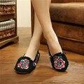 2017 Новая Коллекция Весна Бренд женской Плоские Туфли Традиционный Цветок Вышивка Удобные Дышащий Холст Обувь Женская Повседневная Обувь