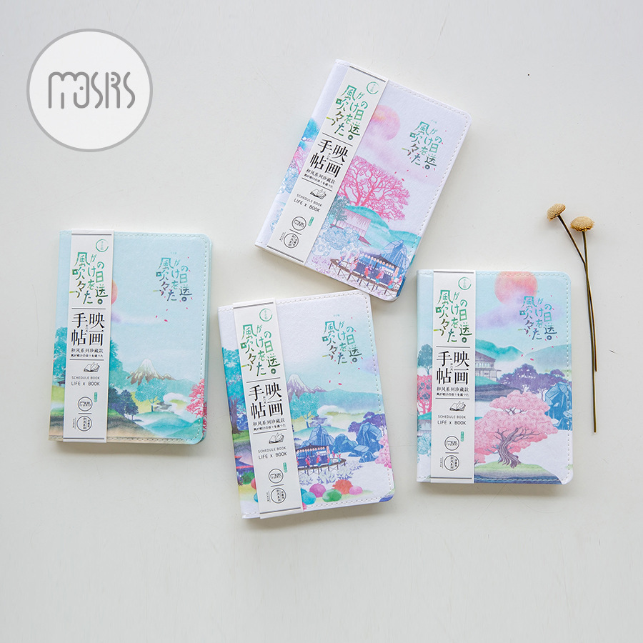 Vintage Wind Pictures Schedule Book Diary Weekly Planner Notebook Sketch Book School Supplies Gift цена 2017