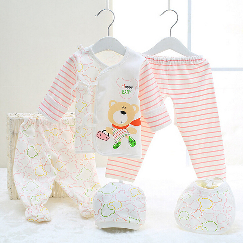 5PCS/set Newborn cartoon set Baby Clothing Long Sleeve Cotton baby Rompers Girls Boys Clothes suits infant costumes newborn baby rompers baby clothing 100% cotton infant jumpsuit ropa bebe long sleeve girl boys rompers costumes baby romper