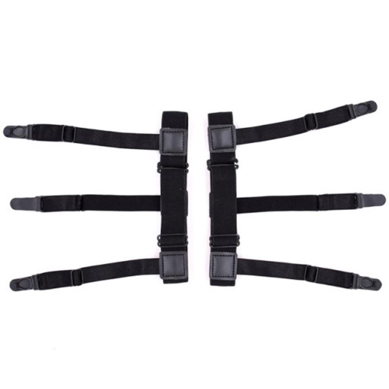 2 Teile/satz Herren Hemd Bleibt Elastische Bein Hosenträger Kunststoff Nicht-slip Locking Schellen