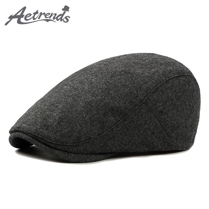 AETRENDS  2017 New Visors Beret Cap Cotton Hats For Men Fitted Driving Sun  Hat d5496d7f2885