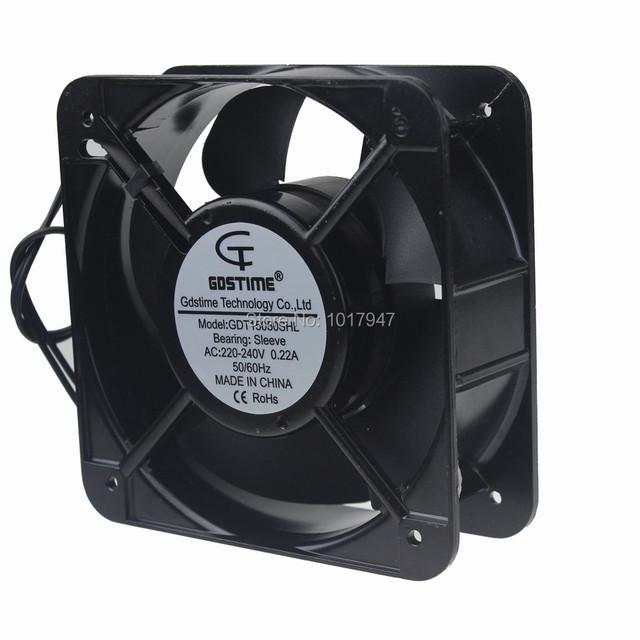 10 UNIDS lot Gdstime AC 220 V 240 V 15 CM 150 MM 150x150x50mm Industrial ventilación De Escape Del Ventilador