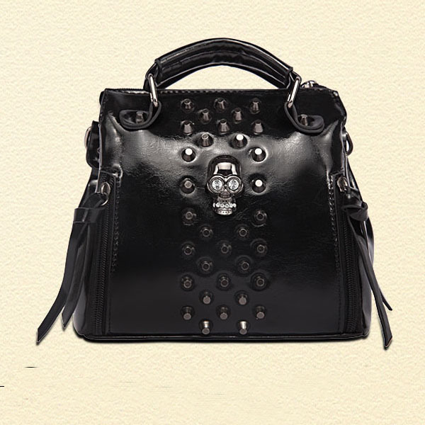 Grande Marque De Sac à Main De Luxe : Fashion small skull fringe handbag sac a main femme