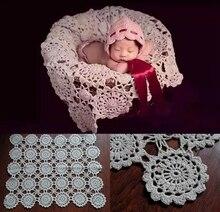 Crochet bébé couvertures nouveau – né photographie accessoires, Rosette Wrap bébé motif tricoté, # P0240