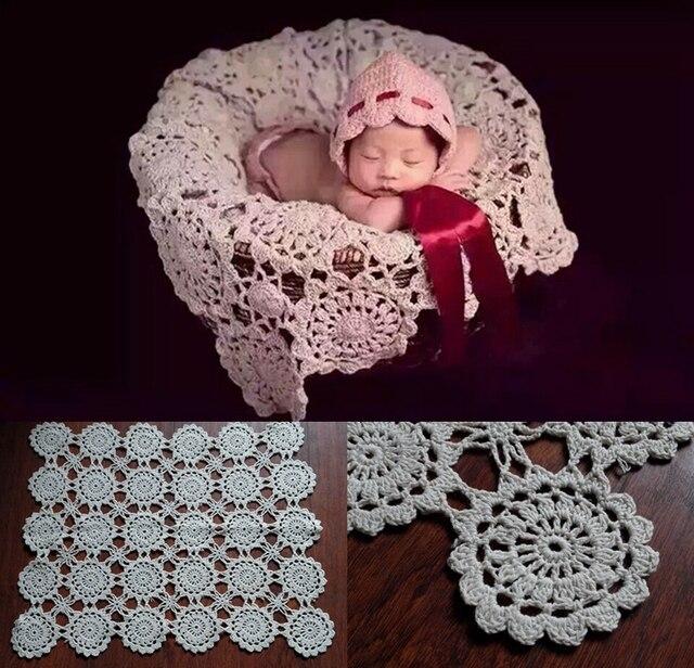 Häkeln Babydecken Neugeborenen Fotografie Requisiten, Rosette Wrap ...