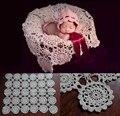 Mantas de ganchillo bebé recién nacido accesorios de fotografía, Rosette abrigo del bebé patrón de punto, #P0240