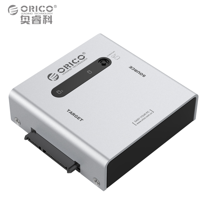 ORICO 2012US3-C Replicator USB3.0 Dual Sata Hard Disk Cartridge Clone 3.5/2.5 SATA HDD SSD 5Gbps Tool Free Hot Swap - Black