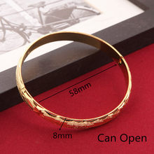 Fashion Dubai Gold Jewelry Gold Color Bangles For Ethiopian Bangles Bracelets Ethiopian Jewelry Bangles Gift(China)