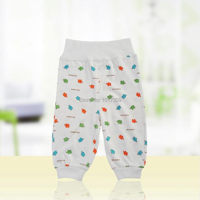 0-12 Meses Bebé Pant Pantalones de Talle Alto Pantalón Bebé Recién Nacido Desgaste Inferior en 100% Algodón