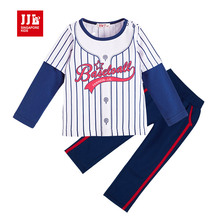 2016 spring boys suit kids sports wear infant outfits long sleeve t shirt+trackpants size 1-3t retail baby clothing fashion