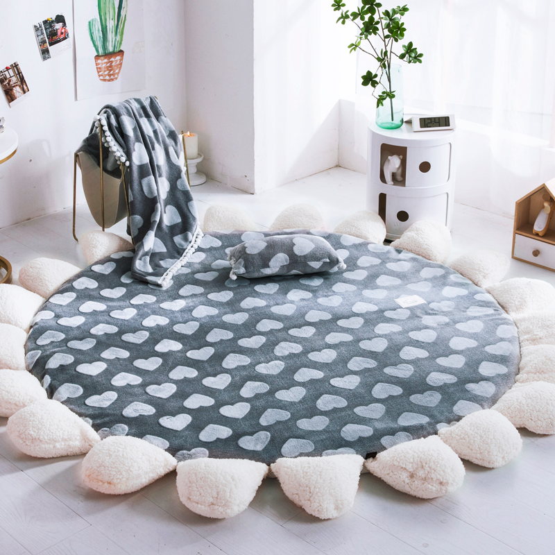 Abstract Nordic Fashion Round Carpet Coffee Table Bedroom Living Room Floor Rug Kids Mat Computer Chair Swivel Cushion