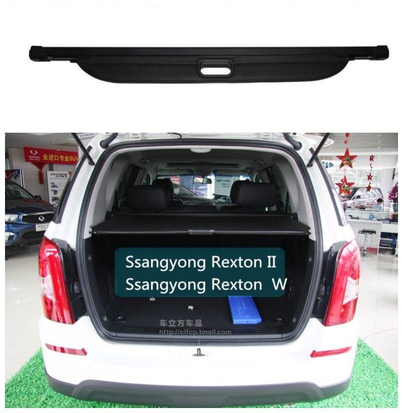 Für Ssangyong Rexton II W 2008-2017 Hinten Trunk Cargo Abdeckung Sicherheit Schild Bildschirm schatten Hohe Qualit Auto Zubehör