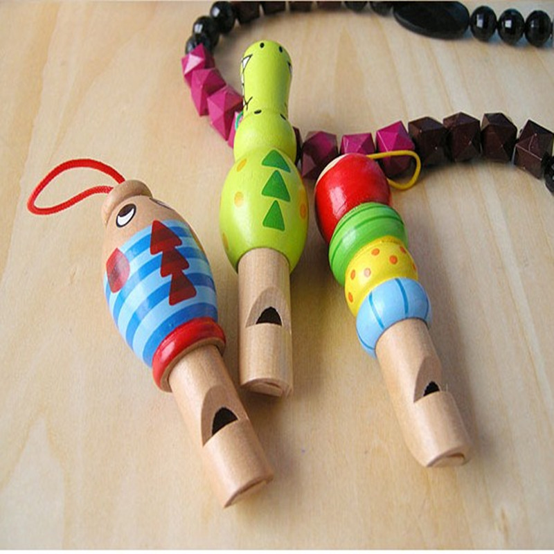 wooden animal whistle kids party favors back to school personalized baby shower gifts children wooden toys