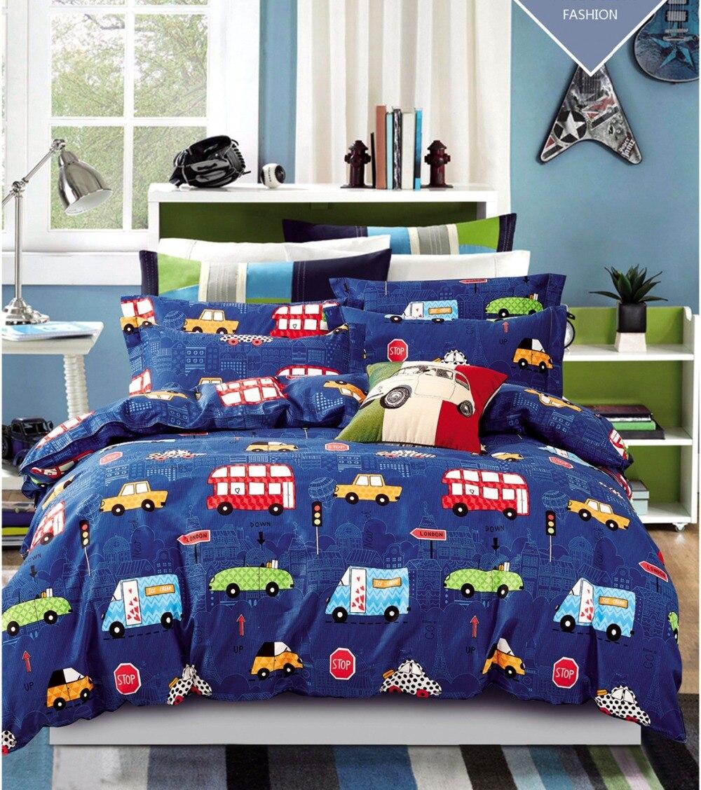 2pcs cars bedding sets purple car bed sheets vintage style twin single teens kids boys girls. Black Bedroom Furniture Sets. Home Design Ideas