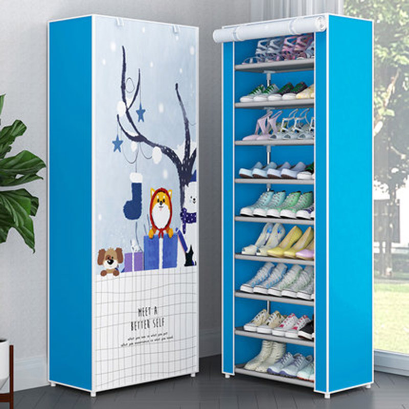 Multi-layer Cloth Shoe Cabinet Living Room Dust-proof DIY Assembly Storage Rack Shoe Rack Home Furniture