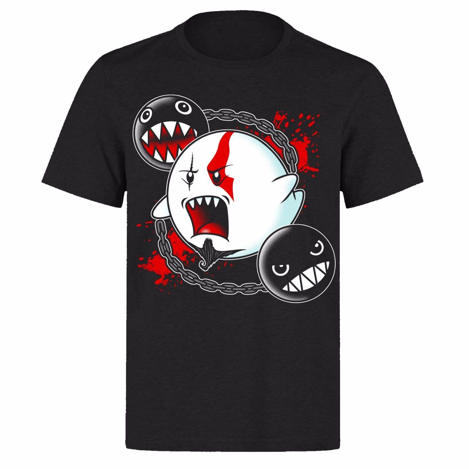 MARIO GHOST GODS OF WAR UNISEX BLACK CLASSIC GAMERS PH10 T-SHIRT Print T-Shirt Mens Short Tee Shirt Homme Tshirt Men Funny