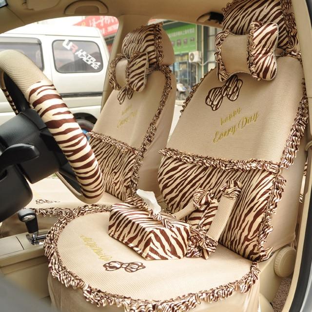 Regal Car Seat Covers Bow Viscose Summer Cartoon Cover Zebra Print