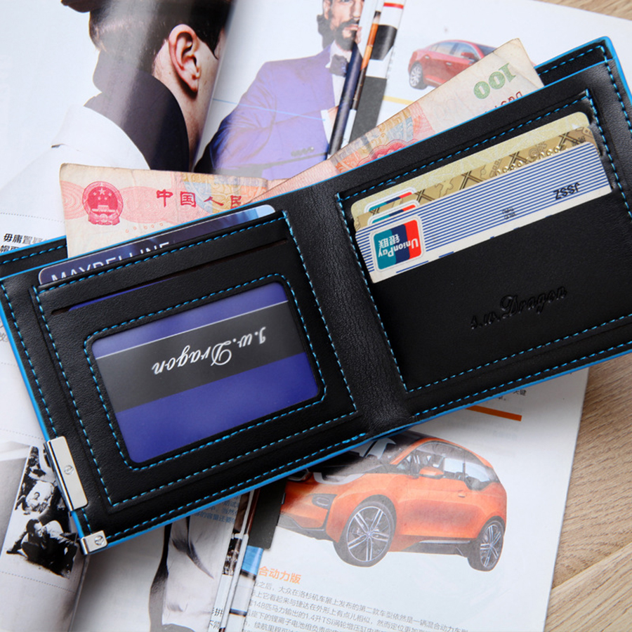 Short Paragraph Small Wallet Fashion Man Money Bag Luxury Forever Young Male Purse Geldbeutel Herren Short Wallets Mens 50QB001(China)