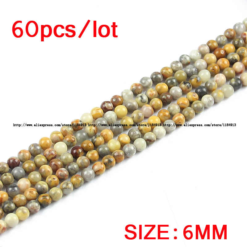 JHNBY 6/8/10/12MM צהוב טבעי אבן Crazy תחרה קרנליאן DIY עגול spacer Loose חרוזים עבור תכשיטי צמיד ביצוע אבזרים