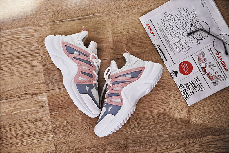 HTB10HuxalCw3KVjSZR0q6zcUpXaK - Fujin Sneakers Women Breathable Mesh Casual Shoes Female Fashion Sneaker Lace Up High Leisure Women Vulcanize Shoe Platform