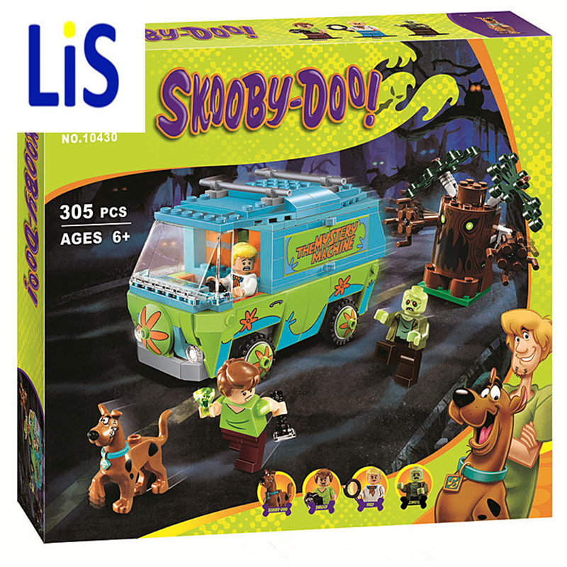 Lis Bela 10430 Scooby Doo Mystery Machine Bus Building Block Mini Toys with lepin 75902 Christmas gift P029 bela 10429 scooby doo mummy museum mysterious plane minifigures building block minifigure toys best legoelieds toys