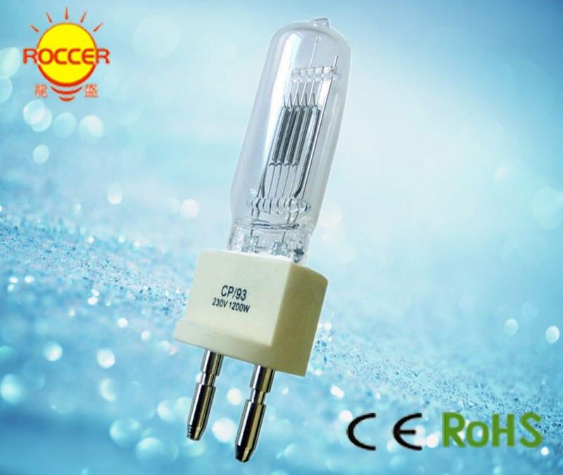 Высококачественная кварцевая лампа освещение для сцены лампа 230 в 1200 Вт G22 лампа cp93 галогенный дисплей оптический светильник