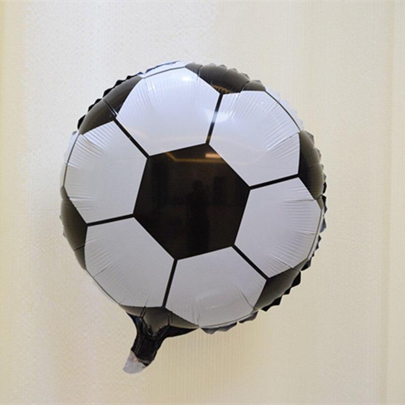 лот 18 дюймов алюминиевый футбольный шар украшение на день рождения  Свадебный праздник футбольный мяч из фольги ba5954dad9d63