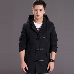 2016 brand clothing baggy hip hop plus size casual horn button men winter windbreaker woolen trench.jpg 250x250