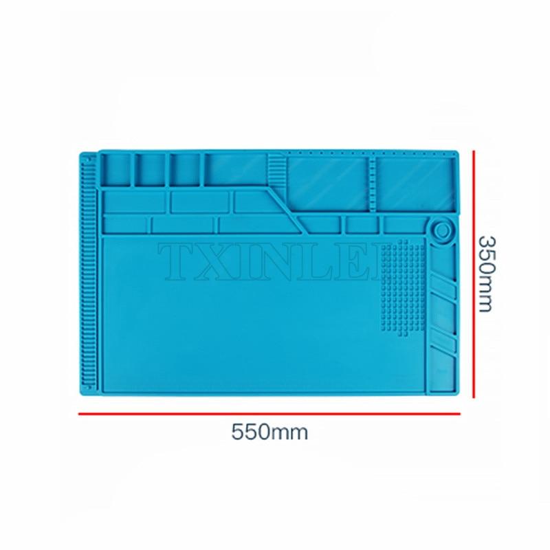 Upgrade 550x350mm Heat Insulation Thickening Silicone Pad Desk Mat Maintenance Platform