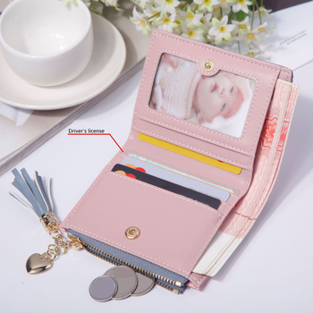2019 New Women's Cute Fashion Purse Leather Long Zip Wallet Coin Card Holder Soft Leather Phone Card Female Clutch