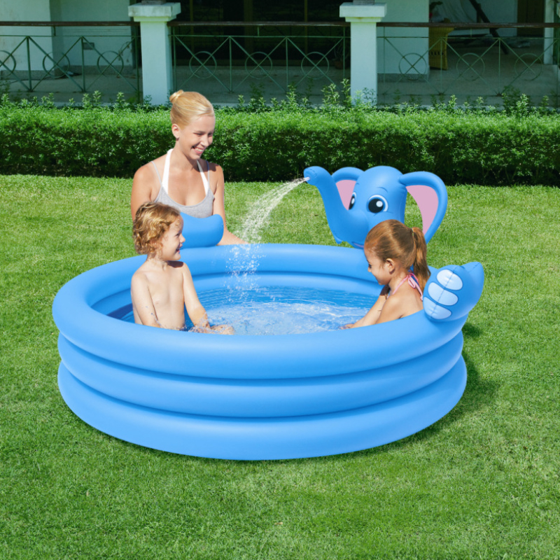 ФОТО  Multi-Function Lovely Elephant Children Inflatable Swimming Water Pool Family Home Playground  Pool piscina bebe zwembad