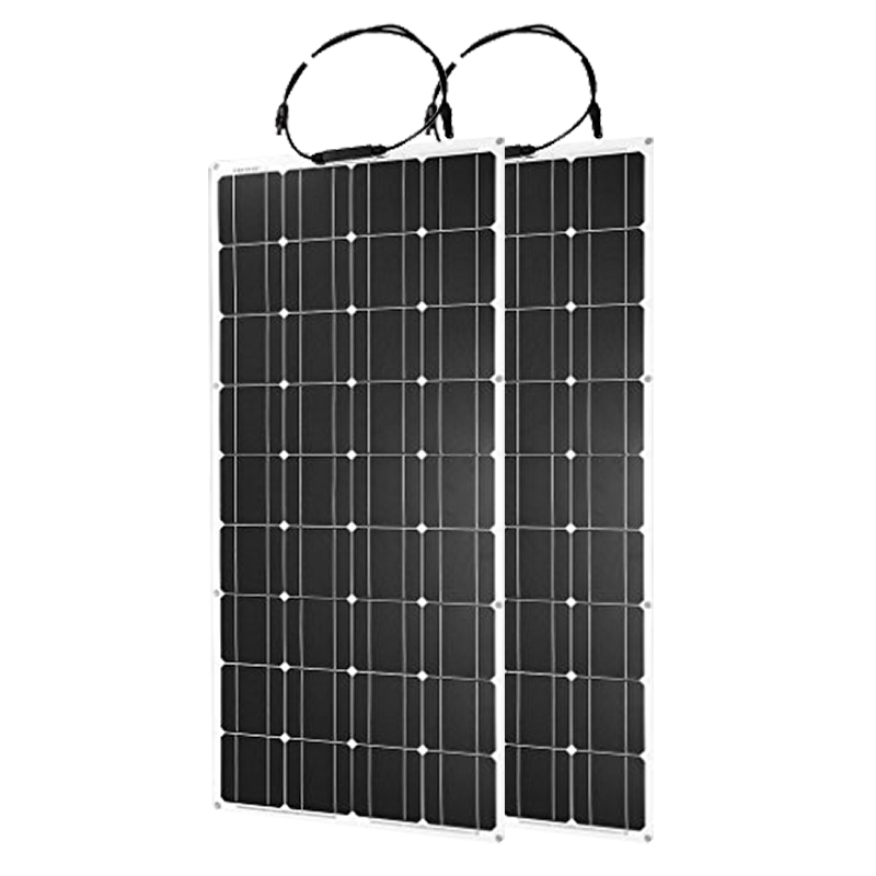 100W 18V Flexible Solar Panel Cell Charger 12V battery Mono Panels China Small outdoor painel solar Portable