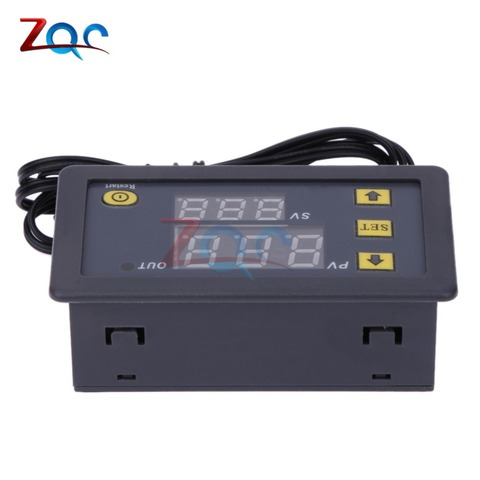W3230 DC 12V AC 110V 220V 20A LED Digital Temperature Controller Thermostat Thermometer Temperature Control Switch Sensor Meter Multan