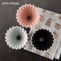 ANTS STRONG Ceramic coffee filter cup/Hand punch coffee Origami filter bowl V60 funnel drip hand cup filters