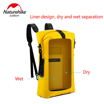 Naturehike New Arrive TPU Shoulders Dry And Wet Separation Surf Bag Can Use For Waterproof Bag Beach Diving Swimming Storage Bag
