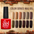 Saviland 1pcs Soak Off Brown Series Nail Gel Polish Semi Permanent UV Gel Varnish Coffee Chocolate Series Gel Lak