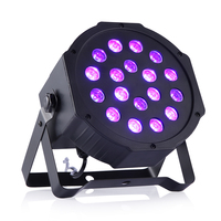 2017 New Arrive 18 Leds UV Led Stage Light DMX Sound Active Led Stage Par Black