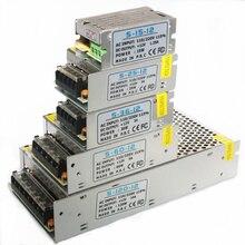 1A 2A 3A 5A 10A DC12V מתג אספקת חשמל Led רצועות אור מיתרי קלטת חבל סרט Led כוח מתאם אלומיניום מתכת חומר