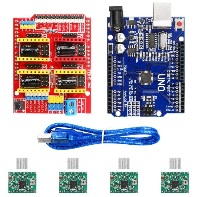 V3.0 Engraver CNC Shield+Board+A4988 Stepper Motor Drivers For UNO R3 for Arduino