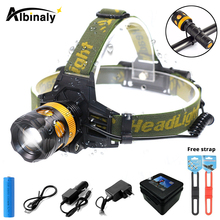 Super bright LED bicycle light 3 lighting mode LED headlight waterproof rotating zoom provides free strap suit for night riding цена и фото