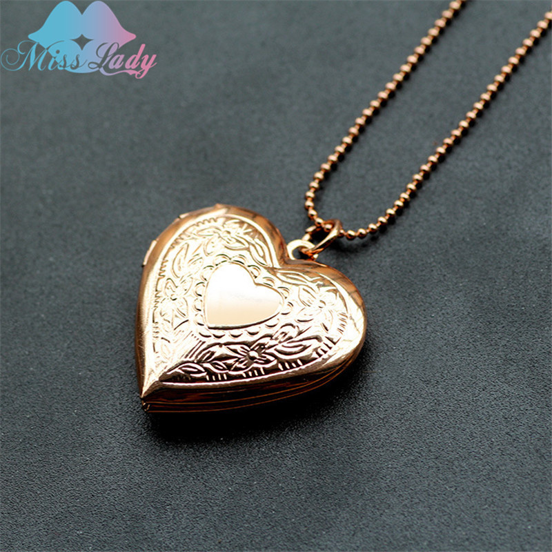 Miss Lady Creative Glossy Hearts Pocket Watches Necklace Put Photos Open And Close Pendant Love Necklace For Women Jewelry A1014 Necklace Pocket Necklace Dollnecklace Japan Aliexpress