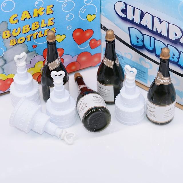 48pcs Mini Champagne Bubbles Wedding Party Decorations Love Heart Cake Shape Bottles Hy Birthday Festival Celebration