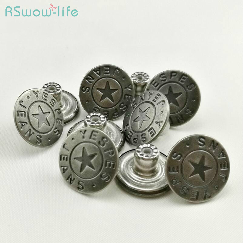 50pcs Jeans Button Metal Buttons  DIY Crafts Clothing Sewing Accessories