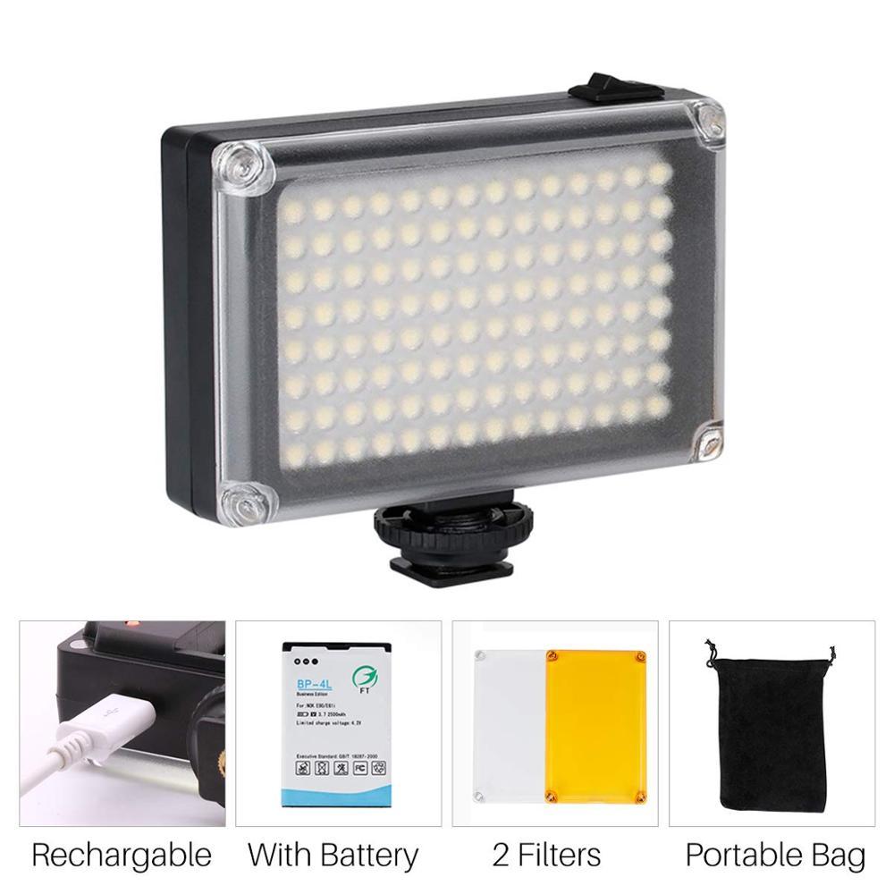 112 светодиодный видео свет мини карманный светодиод Vlog освещение для Canon Nikon sony A6400 6300 видеокамера DSLR камера смартфон