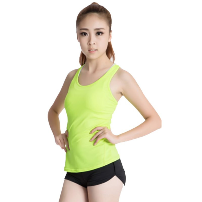 Forceful Women Fitness Dri-fit Tank Sports Gym Running Vest Jogging Tops T-shirt Perfect In Workmanship
