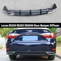 For Lexus ES200 ES250 ES300H 2013 2017 Rear Bumper Diffuser Bumpers Lip Protector Guard skid plate ABS Chrome finish