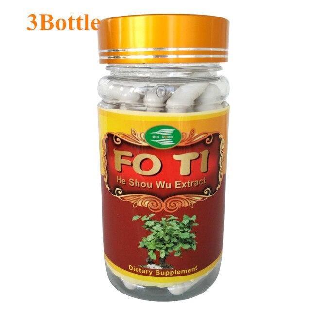 3Bottles Fo-Ti, Ho Shou Wu 20:1 Extract 500mg x 270 Capsule free shipping