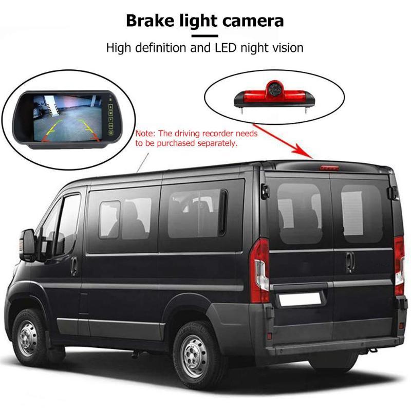 Voiture 3rd feu de freinage caméra de recul IP68 LED étanche Vision nocturne caméra haute définition pour citroën Jumper Fiat Ducato
