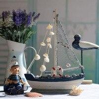 Bán bất thông mdf phong cách địa trung hải mô hình tàu bằng gỗ của nhãn hiệu rắn buồm nautical 36 cho hàng thủ công decor miễn phí vận chuyển